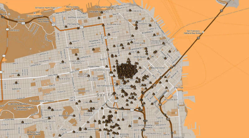 Human Waste Map San Francisco